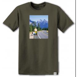 T-shirt Element peanuts adventure ss green