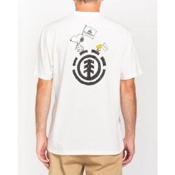T-shirt Element peanuts slide ss white back