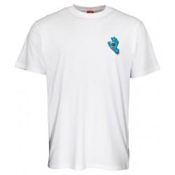 T-shirt Santa Cruz Screaming Hand Chest bianca 1