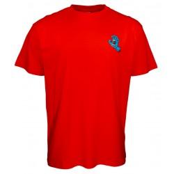 T-shirt Santa Cruz Screaming Hand Chest rossa1