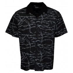 Camicia Santa Cruz Barbed Wire S/S Shirt black 1