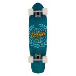 Skateboard D Street Cruiser Atlas blue bottom